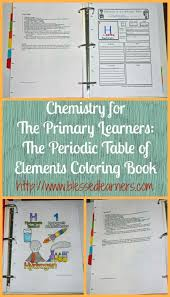 periodic table science book chemistry for the primary learners the periodic table of elements