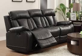 homelegance ackerman reclining sofa set black bonded leather