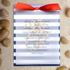 nautical themed wedding invitations cheap royal blue stripes nautical layered wedding invitations