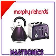 Morphy Richards Kettle And Toaster Set Morphy Richards Meno Metallic Plum Matching Kettle Morphy