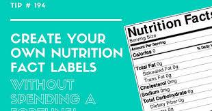 top secret reviews make nutrition label
