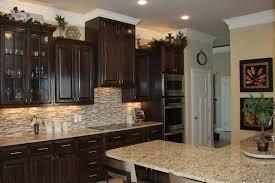 Stain Oak Kitchen Cabinets Red Oak Kitchen U0026 Bath With Ebony Stain Mediterranean Kitchen