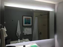 bathroom lighting simple led lights behind bathroom mirror