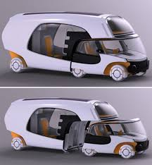 Rv With Car Garage Smart Car U0026 Camper Combined To Create Super Efficient Rv
