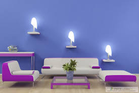 interior fancy purple bedroom decoration using small furry
