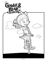 kids fun 9 coloring pages goldie bear