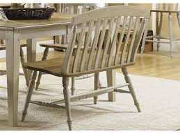 dining table high back bench dining table with slat back bench side chairs by