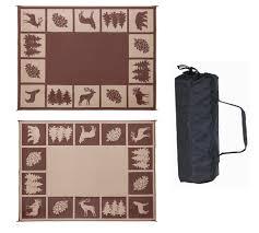 Outdoor Carpet For Rv by Reversible Indoor Outdoor Patio Mat 6 U0027x 9 U0027 Picnic Rug Carpet