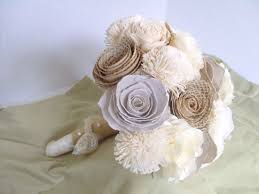 paper flower bouquet crafted rustic shabby chic paper flower bouquet by angela s