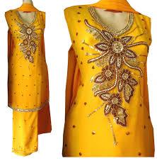 gota kinari dresses for mehndi 2017 collection images