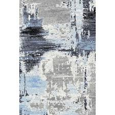 Modern Rugs Chicago Abstract Rug In Blue And Gray Gray Contemporary Rug Cozy Rugs