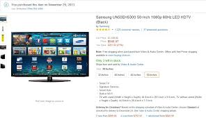 amazon black friday 50 inches beware cyber monday u201cdeal u201d at amazon is 47 more expensive than