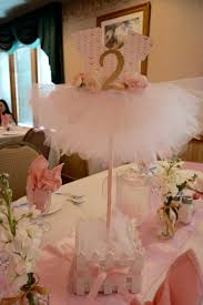 Baby Shower Table Centerpieces by Love Our Confetti And Tulle Balloons With Gold Acrylic Initial For