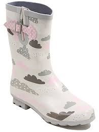 womens boots in asda cloud print wellington boots george
