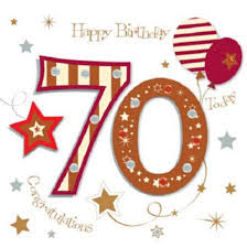 70th Birthday Cards Happy 70th Birthday Greeting Card By Talking Pictures Cards