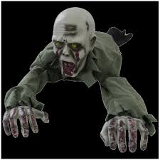 crawling zombie spirit halloween animated haunted radio halloween prop mad about horror