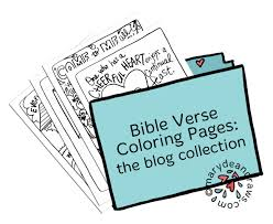 hand drawn bible verse coloring pages collection from the