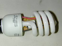 take apart a compact fluorescent bulb 7 steps with pictures