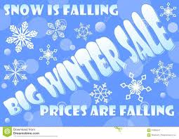 big winter sale billboard snow is falling prices are falling
