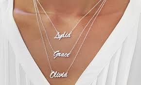custom name necklaces personalized name necklaces monogram online groupon