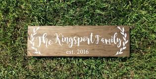 wedding gift name sign rustic family sign wood family established sign wedding