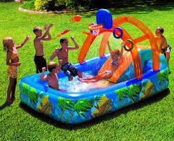 inflatable water park slide pool commercial bounce house yard