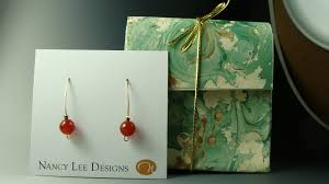 handmade paper earrings handmade carnelian earrings with handmade paper box nancy