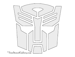free halloween pumpkin carving patterns printable transformers autobot symbol stencil free stencil gallery