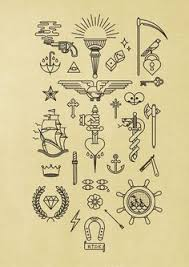 tattoos like this scattered to fill small gaps across the arm but
