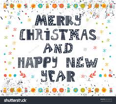 new year post card merry christmas happy new year postcard stock vector 321288176