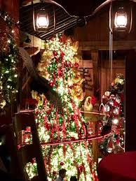 Angus Barn Raleigh North Carolina Each Year A New Tree Idea See The Train Track View From Wild