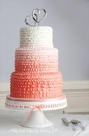 coral wedding cakes coolcakesbylindsay