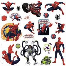 rmk1795scs ultimate spider man wall decals the wall shop rmk1795scs red web wall stickers wall decor wall decals ultimate spiderman self adhesive roommates room
