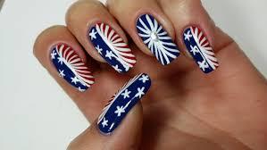 4th of july nails nail art tutorial youtube