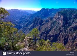 the copper canyon near the uno lodge near san rafael mexico stock