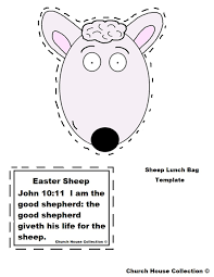 easter sheep lunch bag craft