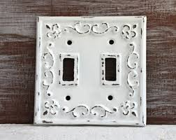 Shabby Chic Light Switch Covers by Light Switch Cover Single Light Switch Plate White