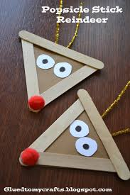 popsicle stick reindeer take some ice cream cones and decorate