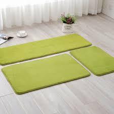 coral fleece green carpet rugs absorbent slip resistant vacuum pad