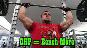 How To Strengthen Bench Press Overhead Press U003d Stronger Bench Press Youtube
