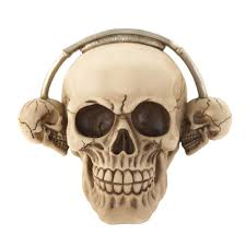 skull decor skull decorations home skull room decor party rockin headphone