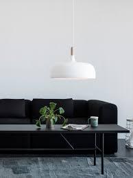 Scandi Living Room by Decordots Modern Scandinavian Living Room White Acorn Pendant