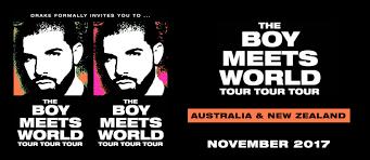 Rod Laver Floor Plan Drake U0027boy Meets World Tour U0027 2017 Australia U0026 New Zealand Official