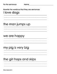 free printable sentence writing worksheets free worksheets library
