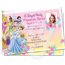 Princess Birthday Invitation Cards Princess Personalized Invitations