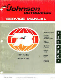 100 20 hp 1973 johnson outboard service manual mastertech