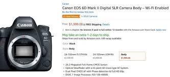 amazon black friday canon canon eos 6d mark ii u2013 canon rumors co