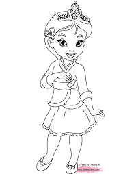 free printable cartoon little princess coloring books for kids