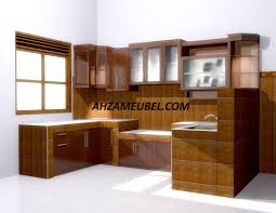 Kitchen Set Minimalis Untuk Dapur Kecil Kitchen Set Minimalis Salak Brown Ahza Meubel Jepara Ahza