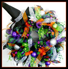 How To Make Halloween Wreath With Mesh by Halloween Wreath Ideas Free Halloween Lime Purple U Black Deco